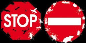 Stopschild Schädlinge